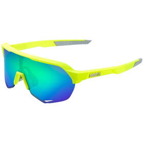 100% S2 Multilayer Mirror Glasses fluorescent yellow